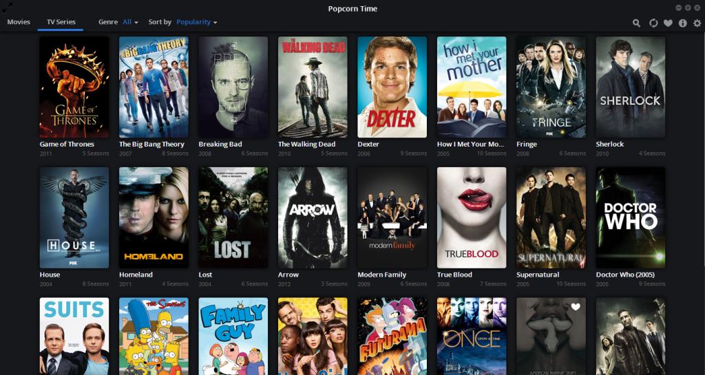 Baixar Popcorn Time para Windows 7